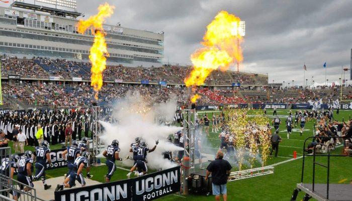 UConn Huskies vs NC State Wolfpack football game