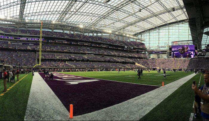 Minnesota Vikings in US Bank Stadium football