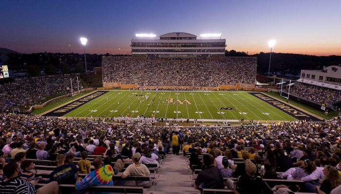 Wake Forest Demon Deacons football game at BBT Field