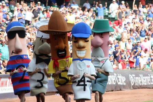 Klements Sausage Race Milwaukee Brewers