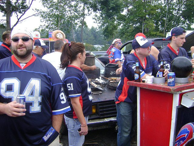 Buffalo Bills fans Pinto Ron tailgate party