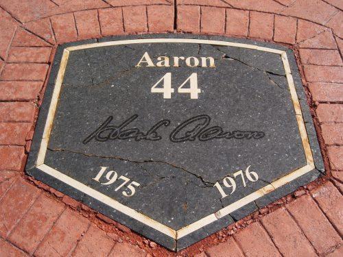 Hank Aaron Plaque Milwaukee Brewers