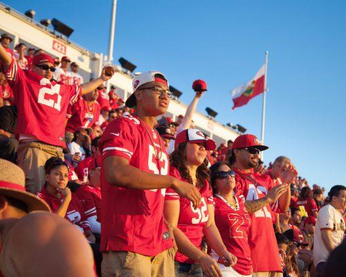 San Francisco 49ers fans at Levis Stadium