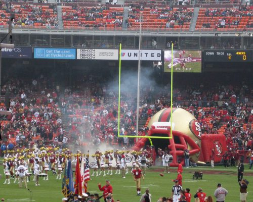 NFL San Francisco 49ers players entrance at the game
