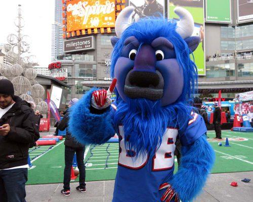Billy Buffalo is the Bills mascot