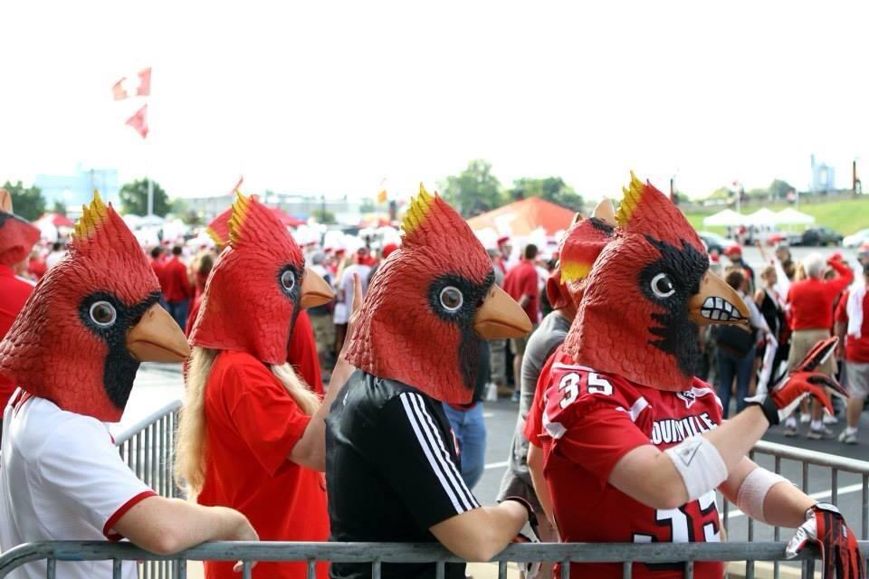 Card Chronicle Bird Mask Louisville Cardinals