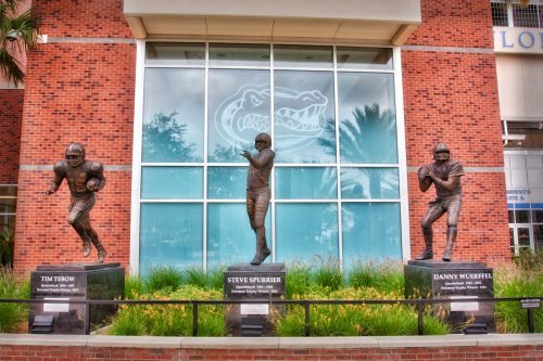 Heisman Winning Statues Florida Gators