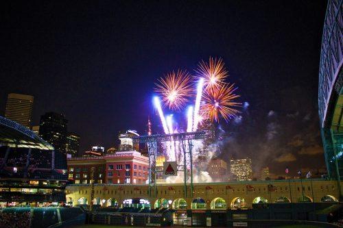 Friday Night Fireworks Astros