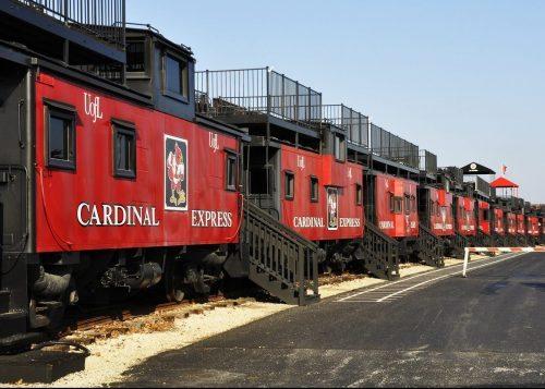 Train railroad tracks Louisville Cardinals