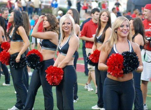 Louisville Cardinals cheerleaders Ladybirds