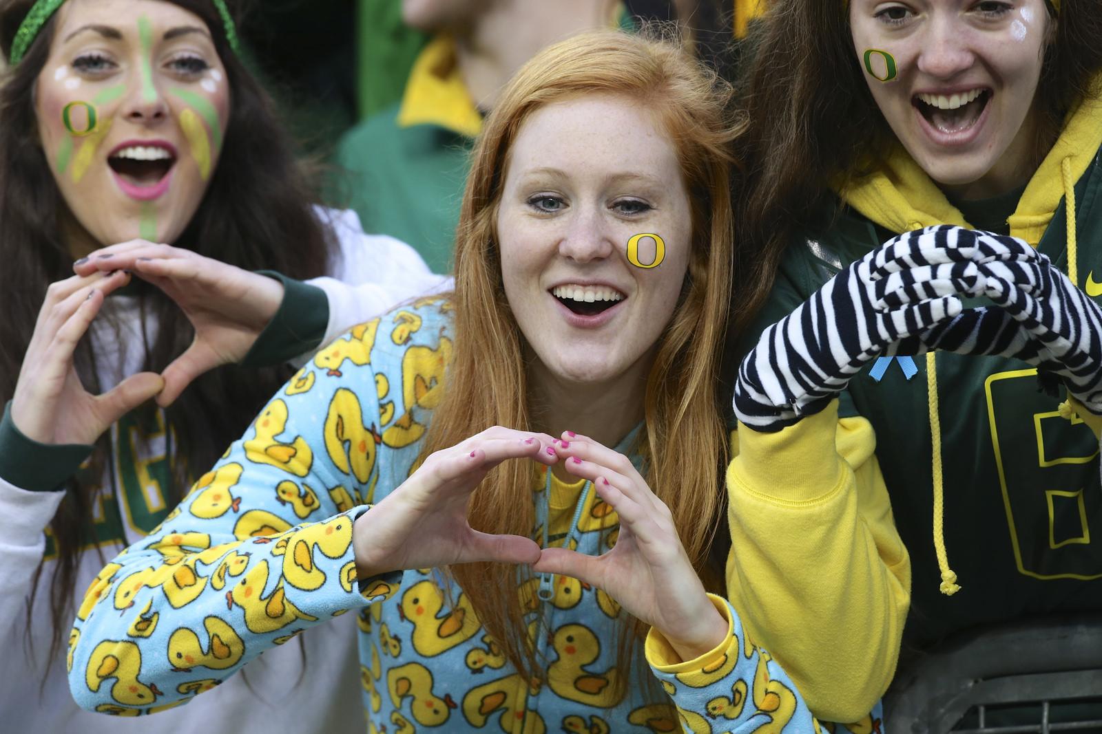 O Oregon Ducks fans