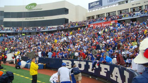 The Rock Pile fans at New Era Field