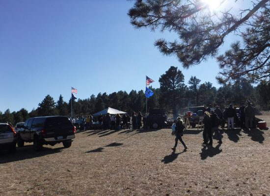 Air Force Falcons fans tailgating