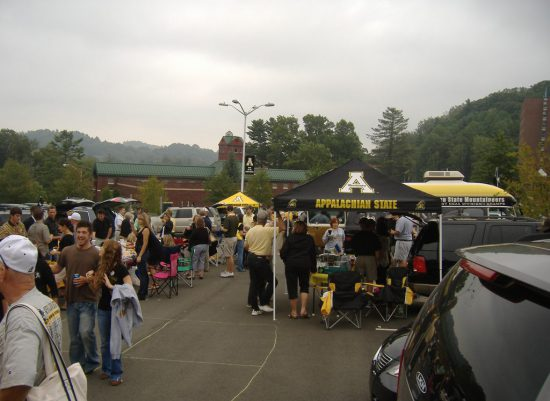 App State Mountaineers tailgate area