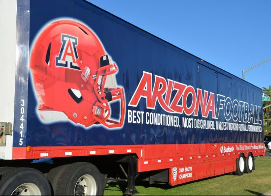Arizona Wildcats football truck