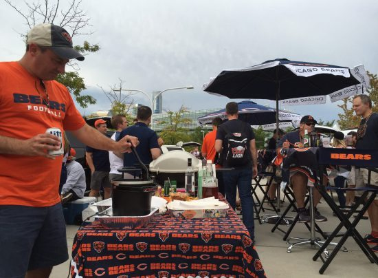 Chicago Bears fans tailgate