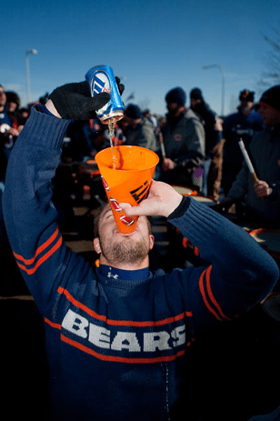 Chicago Bears beer Party