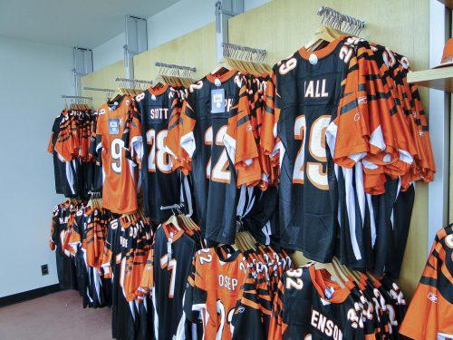 Cincinnati Bengals Pro Shop on the Plaza level of Paul Brown Stadium