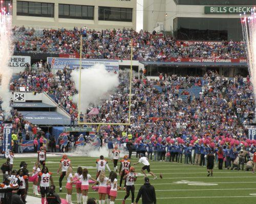 Buffalo Bills players entrance