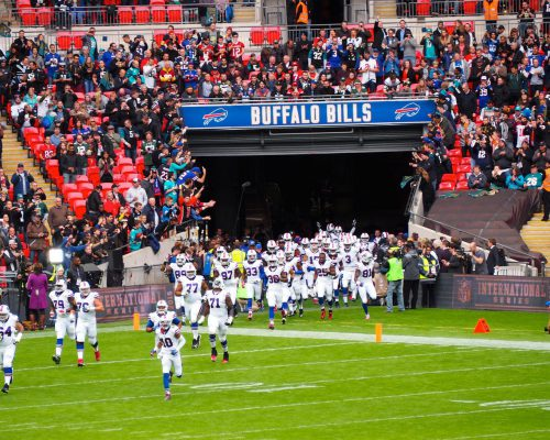 Buffalo Bills football players entrance to the field