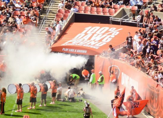 Cleveland Browns players entrance at FirstEnergy Stadium
