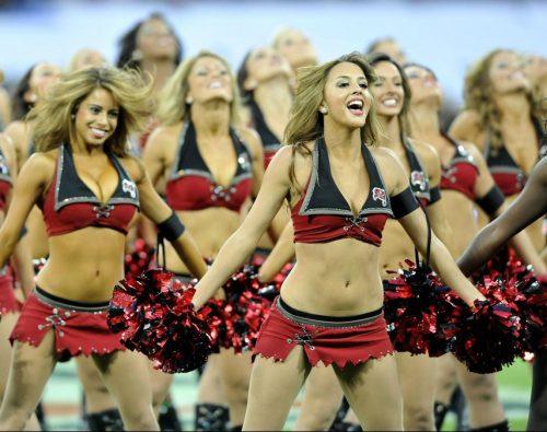 Tampa Bay Buccaneers cheerleaders performance