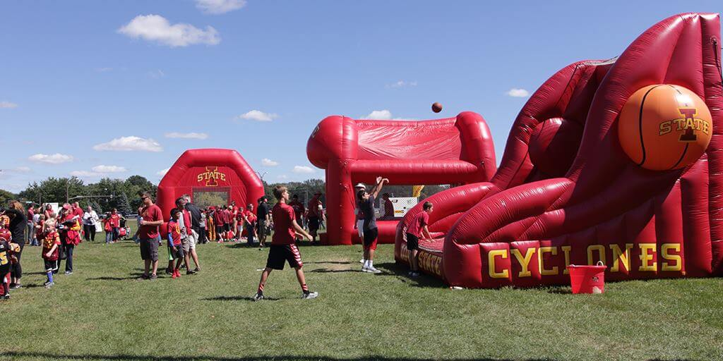 Iowa State Cyclones inflatables Cyclone Experience Jack Trice Stadium