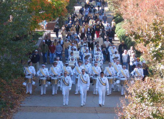 Georgia Tech Yellow Jackets band parade