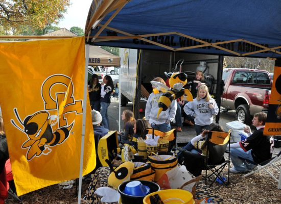 Georgia Tech Yellow Jackets fans tailgating
