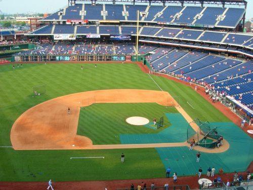 Citizens Bank Park ballpark empty seats