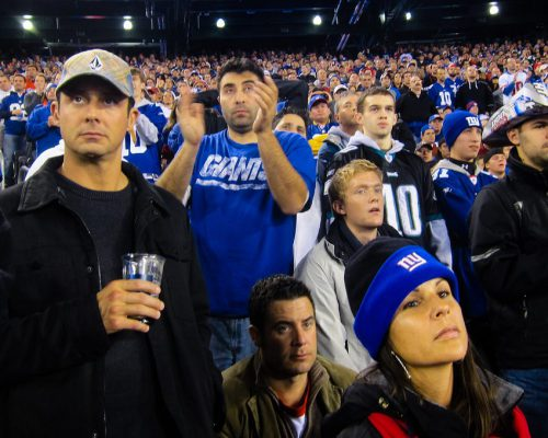 fans at New York Giants game in MetLife Stadium