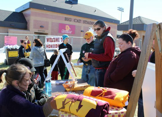 Minnesota Gophers fans tailgating on football gameday