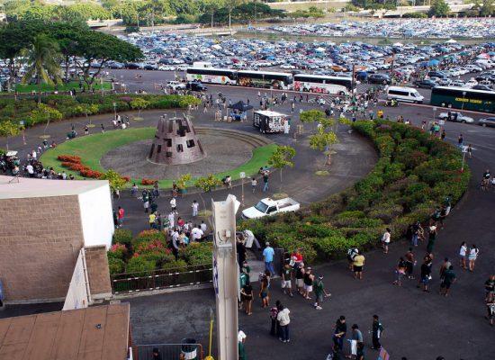 Hawaii Rainbow Warriors football gameday at Aloha Stadium