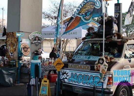 Jacksonville Jaguars tailgaters truck