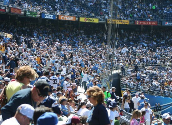 Jacksonville Jaguars fans at TIAA Bank Field