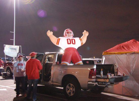 Kansas City Chiefs fans tailgate at Arrowhead Stadium parking lot