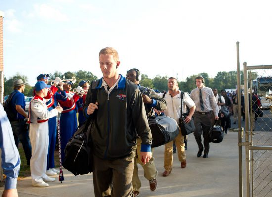 LA Tech Bulldogs football players arrival
