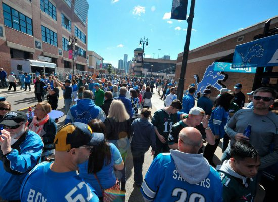 Detroit Lions fans at Ford Field