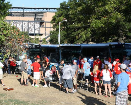 Philadelphia Phillies bus fans
