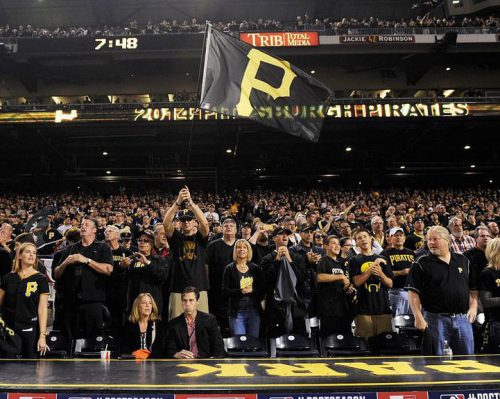 fans at the Pittsburgh Pirates game