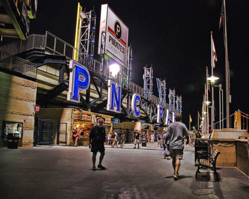 PNC Park Pirate Gear at night