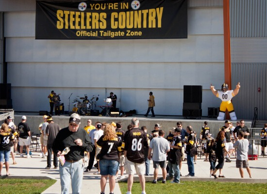 Pittsburgh Steelers Country official tailgate zone
