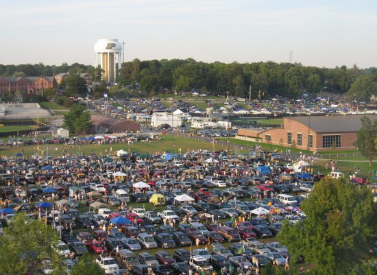 Purdue Boilermakers tailgate parking lot