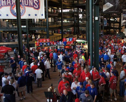 Globe Life Park sections 12 13 concessions