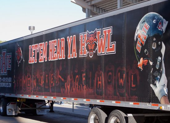 Arkansas State Red Wolves truck