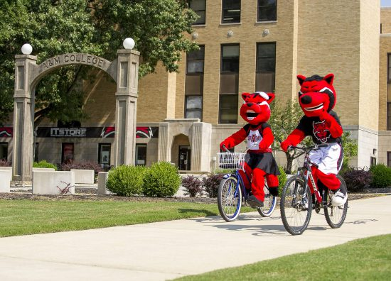 Arkansas State Red Wolves mascot Howl and Scarlet