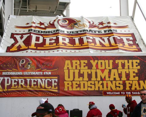Washington Redskins fans at Fedex Field on gameday
