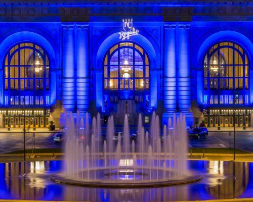 Castle Del Royals water fountain Kansas City Royals