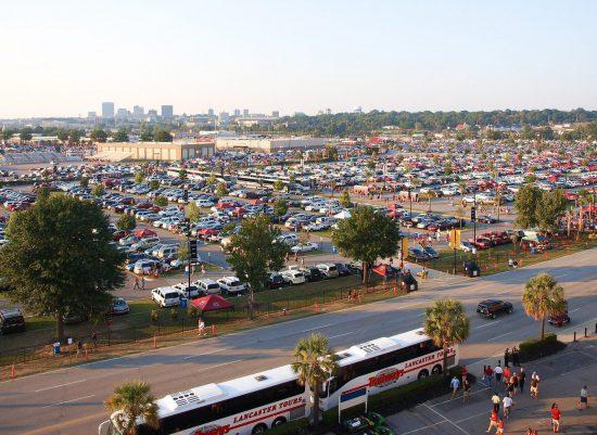South Carolina Gamecocks parking lot