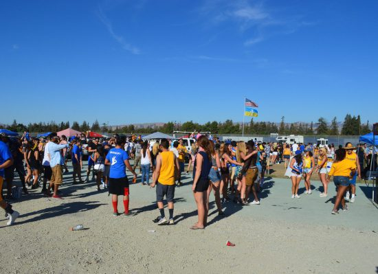 San Jose State Spartans fans tailgating